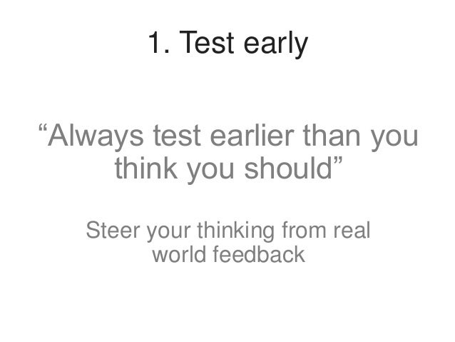 """2. Test often  """"One morning per month"""" Keep testing quick, easy and manageable"""