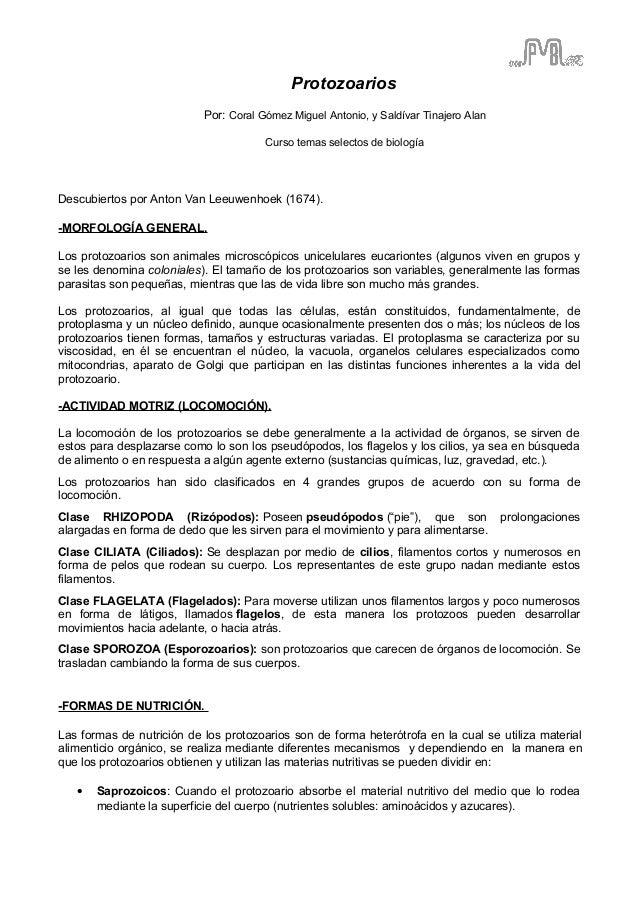 Reproduccion asexual en protozoarios pdf