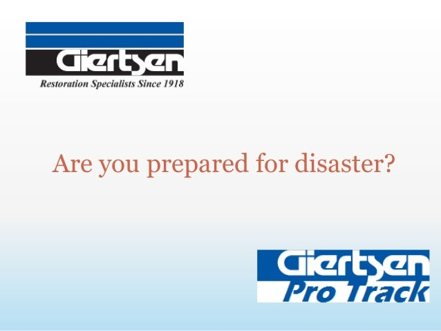 Are you prepared for disaster?