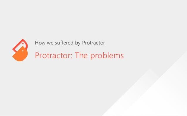 Protractor: The Hacker way (NG-MY 2019) Slide 3