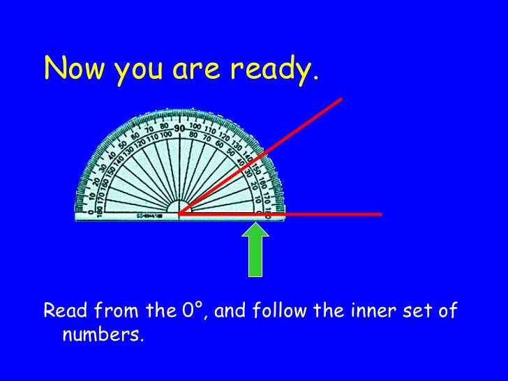 Now you are ready. <ul><li>Read from the 0 °, and follow the inner set of numbers. </li></ul>