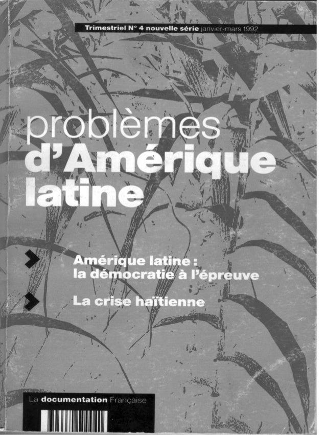 Problemes d'Amérique latine N° 4 jan -mars 1992 )~rou :crise miniére el réinsertion intemationale 72 Ce travail préliminai...