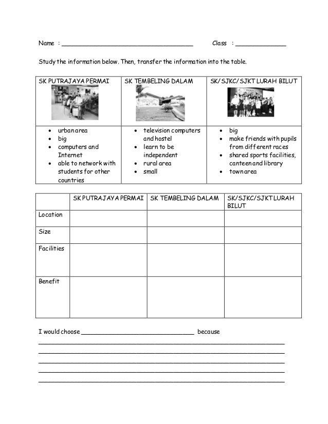 Fun at School (worksheets)