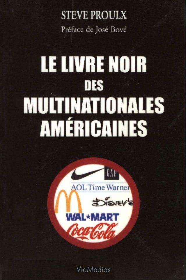 Proulx - le livre noir des multinationales americaines