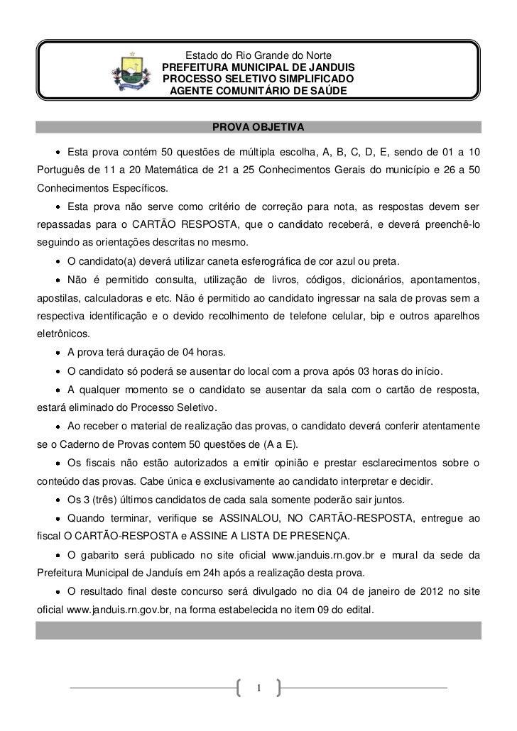 Estado do Rio Grande do Norte                           PREFEITURA MUNICIPAL DE JANDUIS                           PROCESSO...