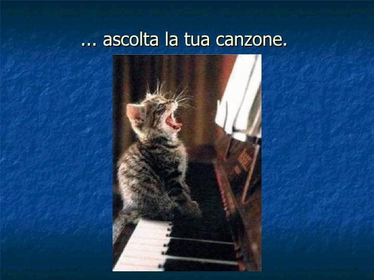 ... ascolta la tua canzone.