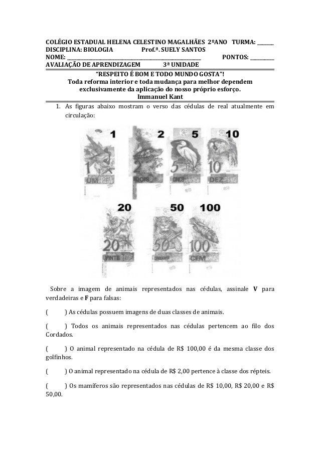 COLÉGIO ESTADUAL HELENA CELESTINO MAGALHÃES 2ºANO TURMA: _______DISCIPLINA: BIOLOGIA                 Prof.ª. SUELY SANTOSN...