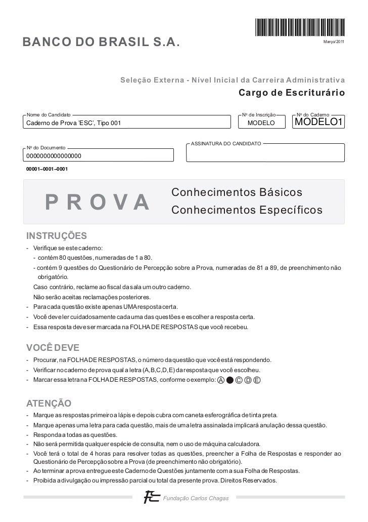 BANCO DO BRASIL S.A.                                                                                        Março/2011    ...