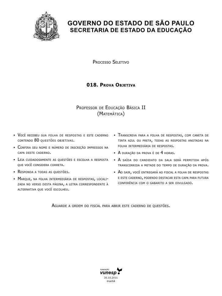 GOVERNO DO ESTADO DE SÃO PAULO                                        SECRETARIA DE ESTADO DA EDUCAÇÃO                    ...