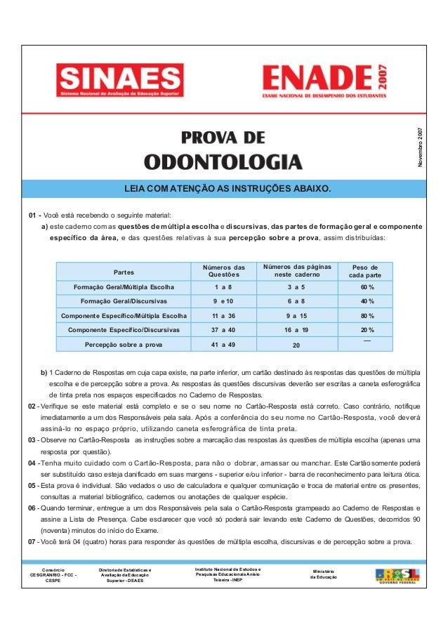 Novembro2007 Diretoria de Estatísticas e Avaliação da Educação Superior - DEAES Instituto Nacional de Estudos e Pesquisas ...
