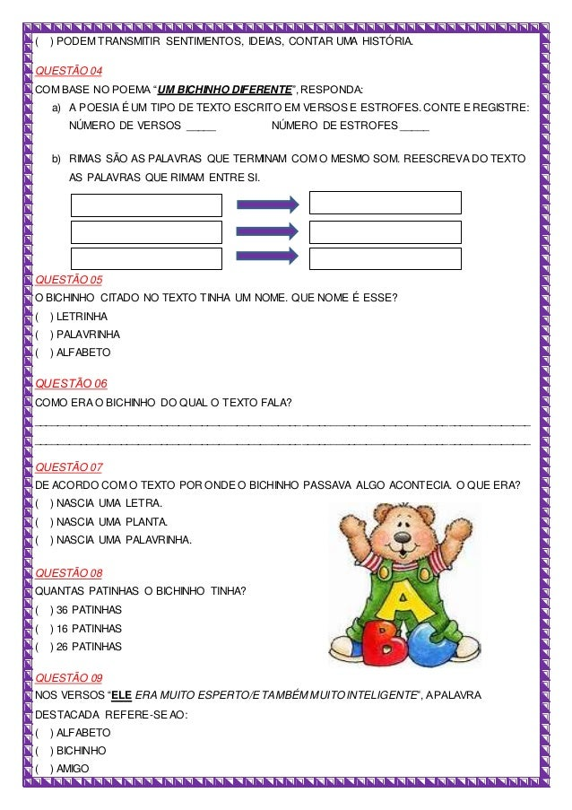 Prova de Língua Portuguesa Slide 2