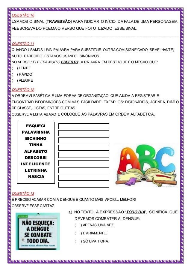 Prova de Língua Portuguesa Slide 3
