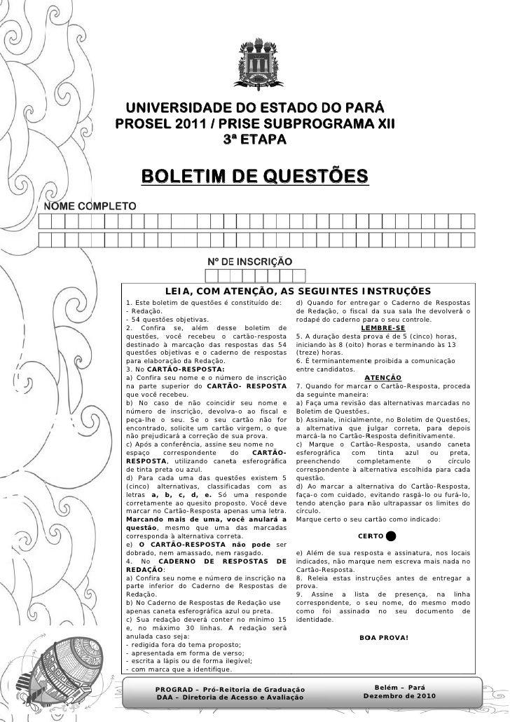 UN  NIVERS       SIDADE DO ES             E    STADO DO PAR                        D    RÁPRO  OSEL 20 / PR        011 RIS...