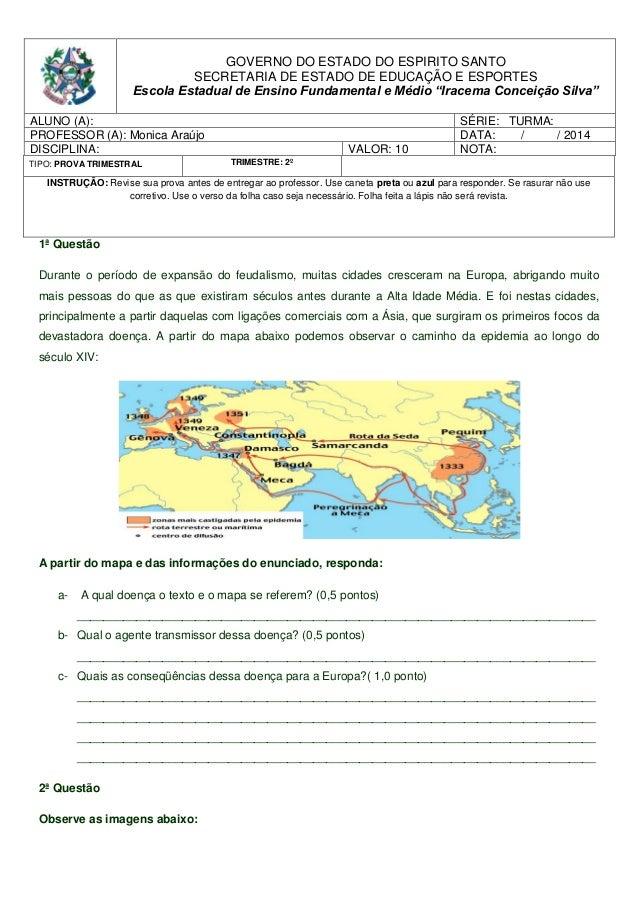 GOVERNO DO ESTADO DO ESPIRITO SANTO SECRETARIA DE ESTADO DE EDUCAÇÃO E ESPORTES Escola Estadual de Ensino Fundamental e Mé...