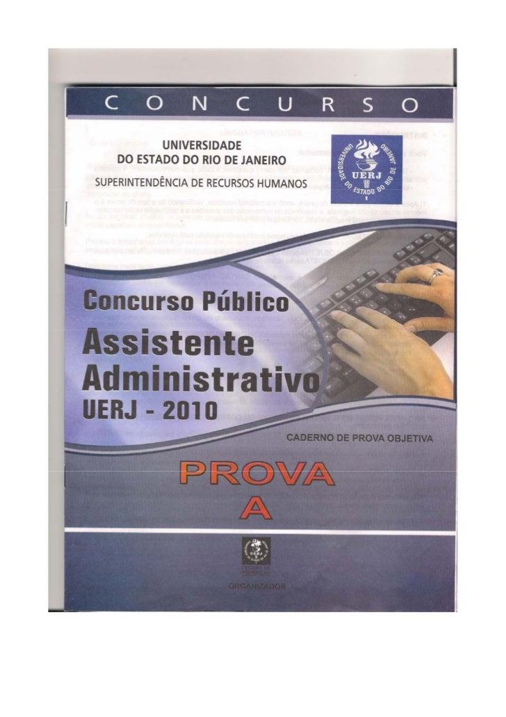 """Gabarito – Assistente AdministrativoProva """"A"""" UERJ   Português          Informática   1-     C           31-    D   2-    ..."""