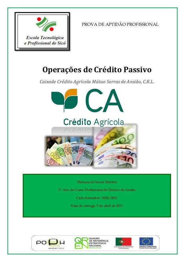 Mariana de Sousa Martins 3.º Ano do Curso Profissional de Técnico de Gestão Ciclo formativo: 2010/2013 Data de entrega: 5 ...