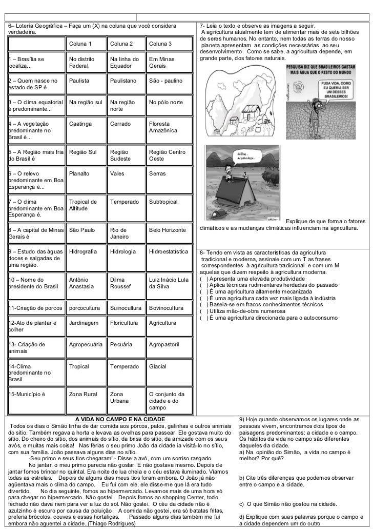 Prova de geografia 1 bimestre 7 ano Slide 2