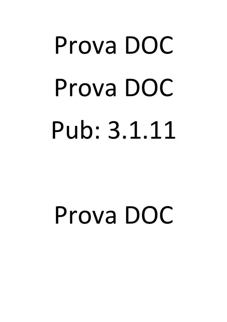 Prova DOCProva DOCPub: 3.1.11Prova DOC