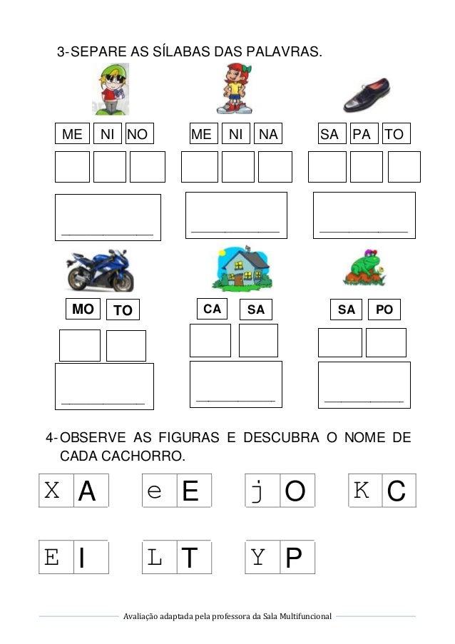 Avaliação de Língua Portuguesa Slide 2