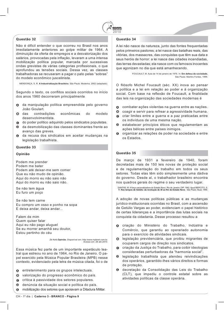 PROVA ENEM 2010 PDF