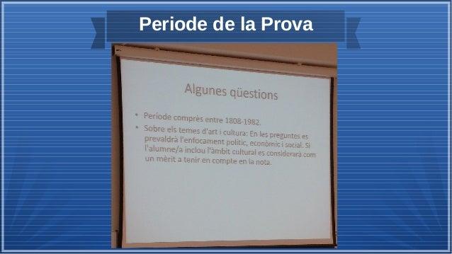 Periode de la Prova