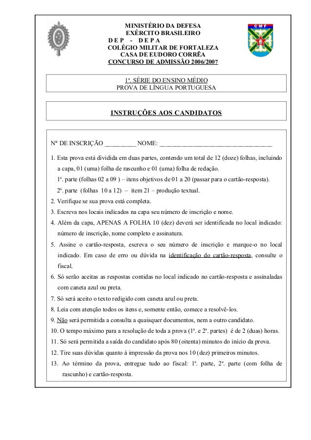 MINISTÉRIO DA DEFESA                           EXÉRCITO BRASILEIRO                       DEP - DEPA                       ...