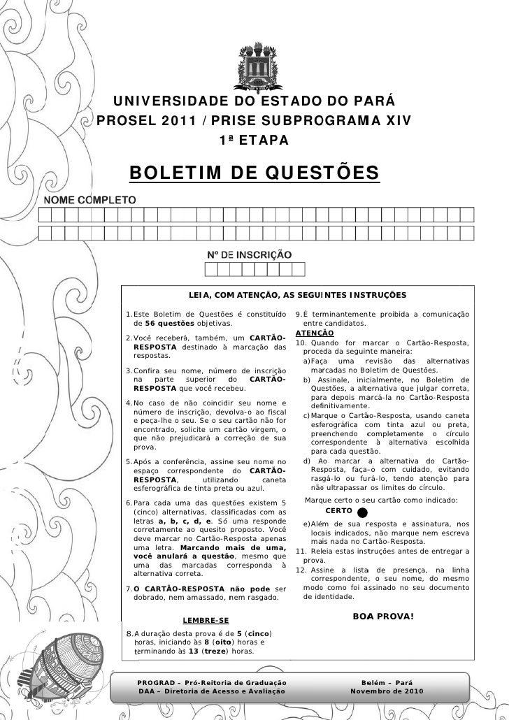 UNI    IVERSI         IDADE DO ESSTADO DO PA                        O     ARÁPROSEL 201 / PR         11   RISE SU         ...