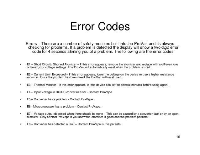 E6 Error Problems