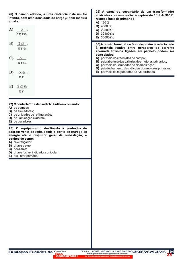 22c320772d2 Coletânea de Provas de engenharia elétrica