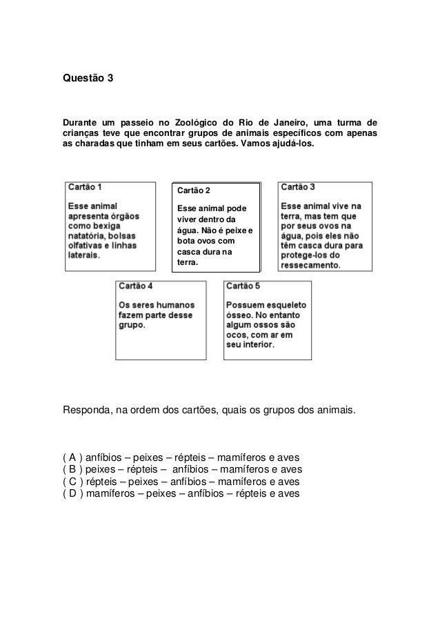 Prova 7º ano - 3º bimestre - 2010 - SME Slide 3