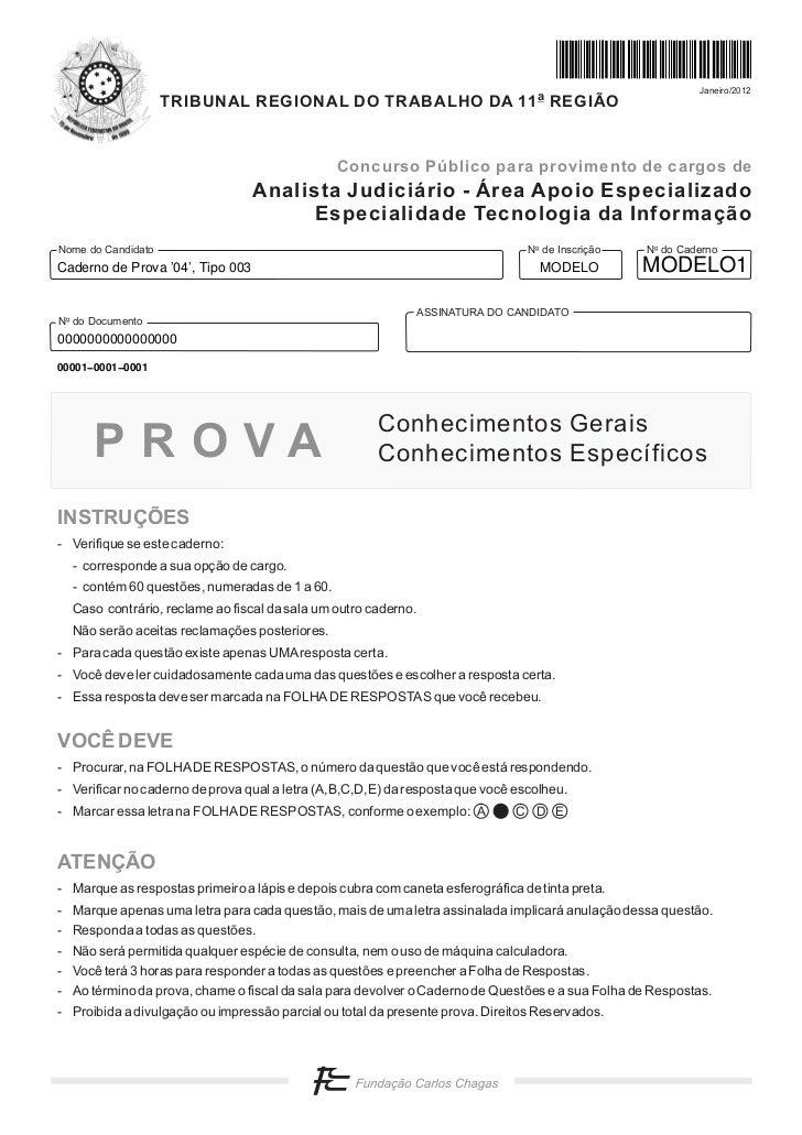 Janeiro/2012                    TRIBUNAL REGIONAL DO TRABALHO DA 11 a REGIÃO                                              ...