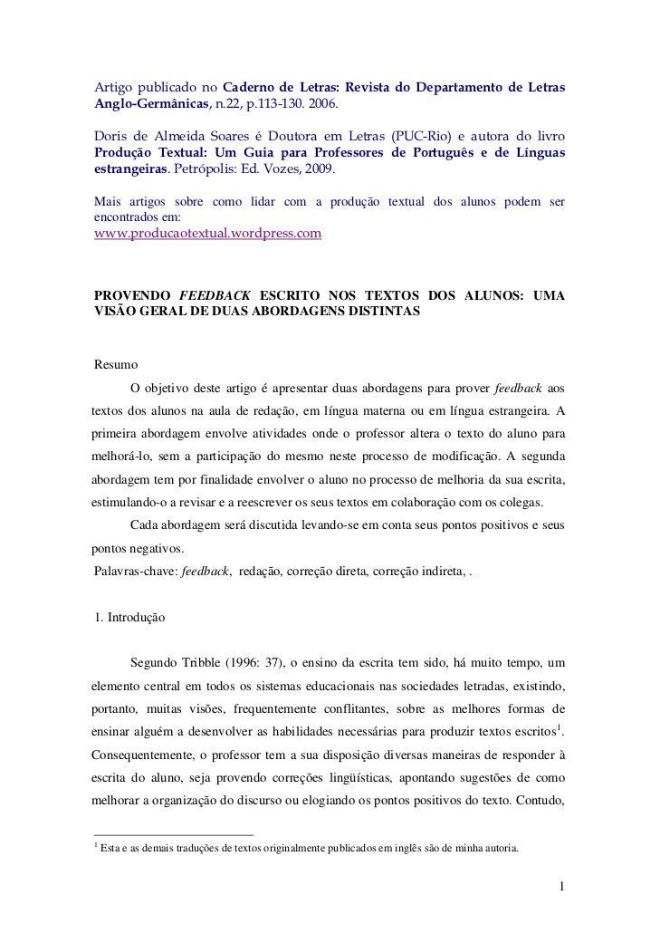 Artigo publicado no Caderno de Letras: Revista do Departamento de LetrasAnglo-Germânicas, n.22, p.113-130. 2006.Doris de A...