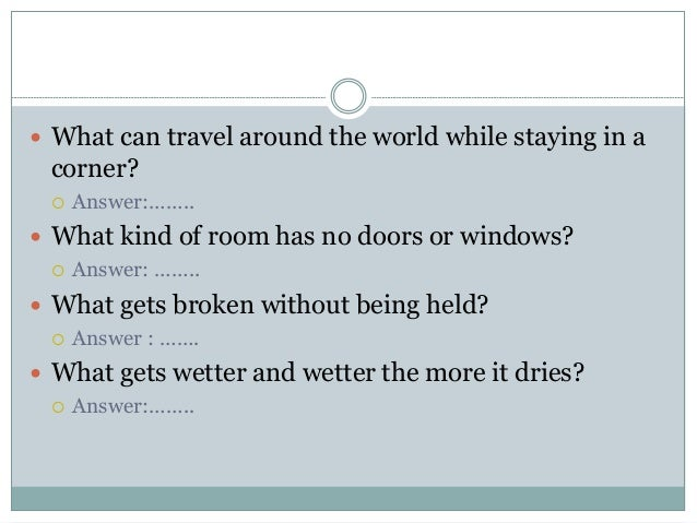What Can Travel The World By Staying In The Corner
