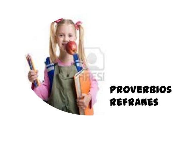 Proverbios refranes