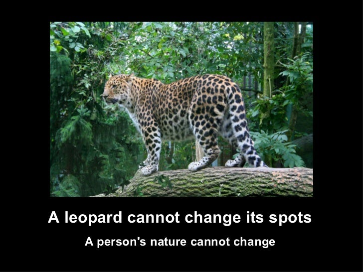 the leopard cannot change its spots