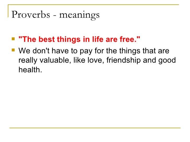 Proverbs!!