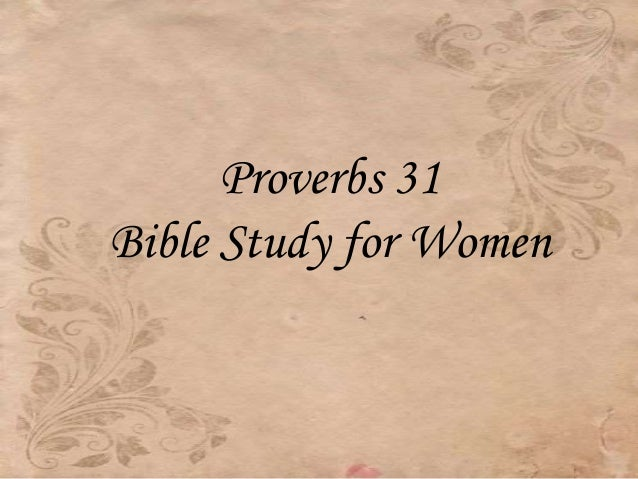 Proverbs 31 Bible Study for Women