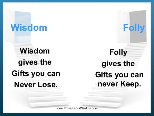 book of wisdom or folly