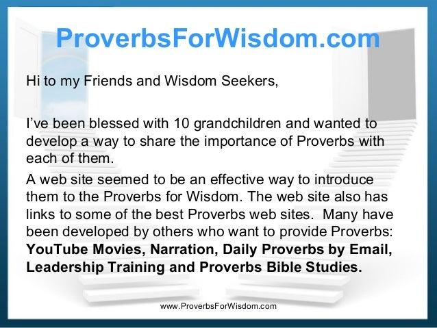 Proverbsforwisdom ppt