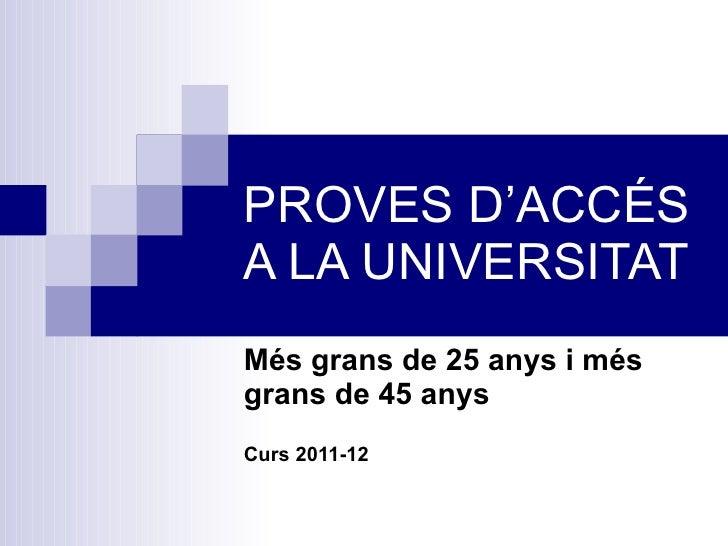 proves d acc s a la universitat 11 12