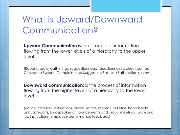 Provide Examples Of Types Of Upward And Downward