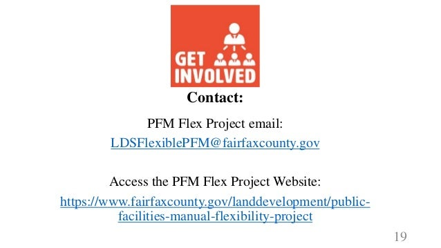 Fairfax County's Public Facilities Manual (PFM): Update to