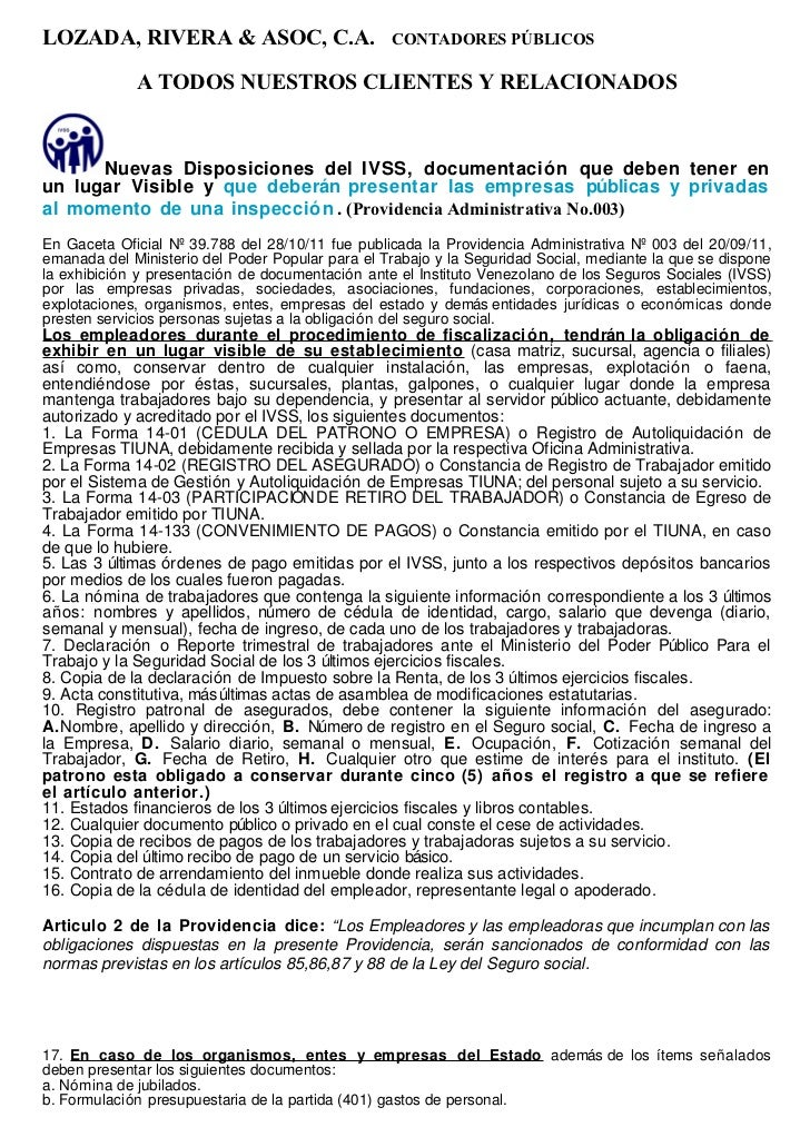 LOZADA, RIVERA & ASOC, C.A.                       CONTADORES PÚBLICOS             A TODOS NUESTROS CLIENTES Y RELACIONADOS...