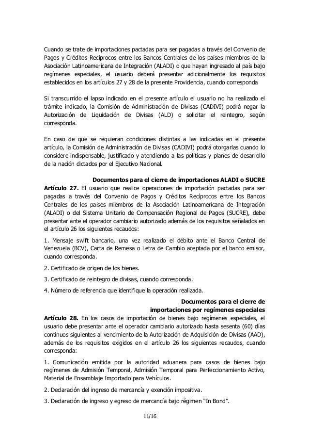 Providencia 108 cadivi importaciones for Solicitud de chequera banco venezuela