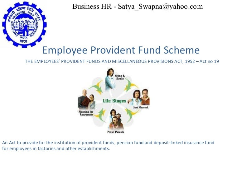 Employee Provident Fund Scheme THE EMPLOYEES' PROVIDENT FUNDS AND MISCELLANEOUS PROVISIONS ACT, 1952 – Act no 19 An Act to...