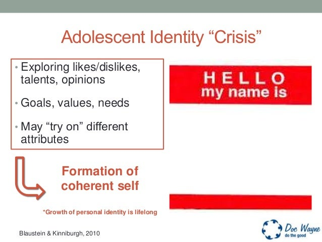 teen identity Although an identity crisis can occur at any age, they are supremely important to address in the teen years because of the profound affect they can have that carries on into adulthood what makes an identity crisis so intense in the teenage years is that these are the years teens are already going through significant and confusing changes.