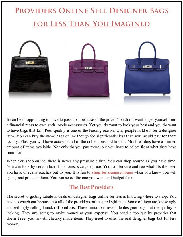 Providers Online Sell Designer Bags,Are Site Planning And Design