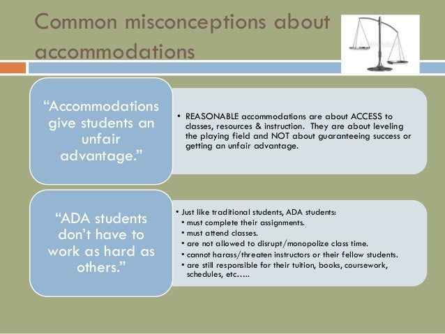 how to make accommodations for students with disabilities