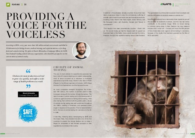 Providing a voice for the voiceless According to PETA, every year more than 100 million animals are tortured and killed in...