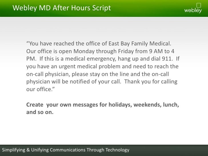 Providing better after hours care to your patients simplifying unifying communications through technology 13 m4hsunfo